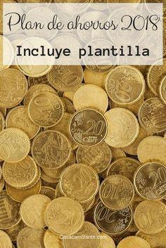 Con esta plantilla gratuita para programar y monitorear ahorros, el 2018 será un año de éxito financiero. Plantilla cortesía de Casacambiante.com