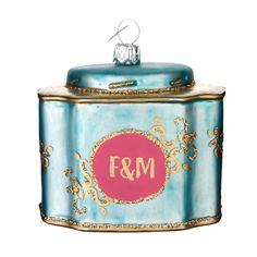Fortnum & Mason tea tin ornament