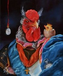 Sylvia Karle-Marquet - Le roi à la coque Caricatures, Character Art, Character Design, Chicken Painting, Animal Society, Alternative Art, Animal Party, Party Animals, Mail Art