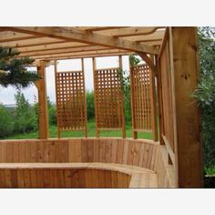 what about lattice at the roof of the pergola?