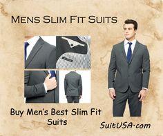 Mens Slim Fit Suits  #SlimFitSuit #MensSuit #SingleBreastedSuit #DoubleBreastedSuit #WoolSuit #ThreePieceSuit #ZootSuit #ShopNow #SuitUSA