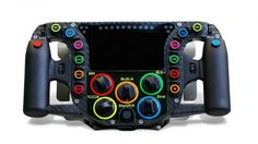 The steering wheel on Porsche's 919 Hybrid LMP1 car  Remember, you'll have to process this information and operate the systems while also travelling at more than 100 mph – and actually racing wheel-to-wheel.