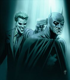 Batman vs Joker   illustrated by Peter Habjan