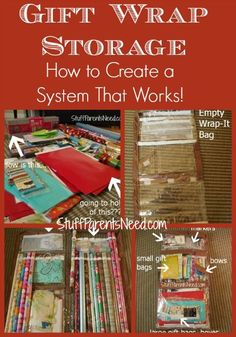 How To Organize And Store Wrapping Paper (Giveaway