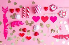 Kerää pinkkiä pöytään | sweet pink valentines table #valentines #styling #pink #love #hearts