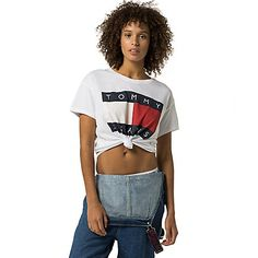 Image for TOMMY JEANS CROPPED FLAG TEE from Tommy Hilfiger USA