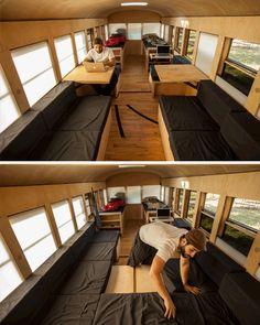 Beautifully Simple: School Bus Turned Minimal Mobile Home