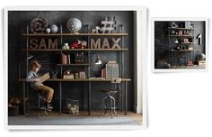 For the loft. Homework area for the boys  Rooms | Restoration Hardware Baby & Child