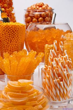 Candy Table...fall colors - orange