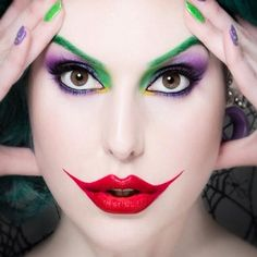Copyright InaGlo photography. Makeup by Samantha Taylor. Joker cosplay. Lady Joker