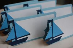 Sailboat Placecards Sailboat Food Labels Sailboat by GiggleBees, $10.00