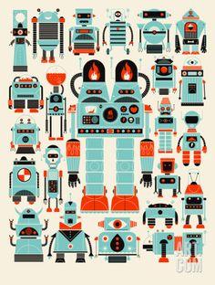 Robots, Robots Serigraph by Methane Studios at eu.art.com