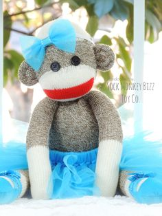 Ballerina Doll Sock Monkey Doll Kid's Toy by SockMonkeyBizz