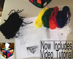 Rubiks Cube Tissue Box Cover Kit  All Materials,Video & by Frizman, $12.99