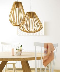 Stockholm 1 Light Squat Flair Pendant in Natural Wood and Stockholm 1 Light Tall Flair Pendant in Natural Wood. Wood Pendant Light, Modern Pendant Light, Pendant Lighting, Pendant Lamps, Modern Interior Design, Interior Styling, Stockholm, Beacon Lighting, Wood Lamps