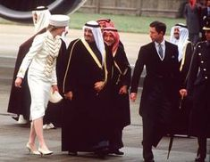 Welcome King Faud of Saudi Arabia , le 24 mars 1987 _ Suite