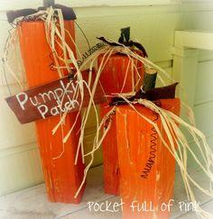 Wood Post Pumpkins