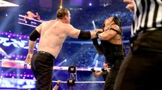 WWE WrestleMania 30 The New Age Outlaws & Kane vs The Shield