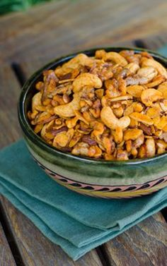 Paleo Snack Mix is salty, smoky and garlicky like traditional snack mix. | paleo, gluten free, dairy free | cookeatpaleo.com