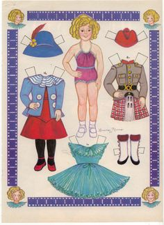 Shirley Temple Child paper doll by L Morris
