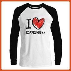Idakoos - I love Roadrunner chalk style - Animals - Raglan Long Sleeve T-Shirt - Animal shirts (*Partner-Link)