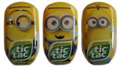 Despicable Me MINIONS BIG PACK Tic Tac Lot 3 Limited Ed Bob Stuart Kevin Rare  #TicTac
