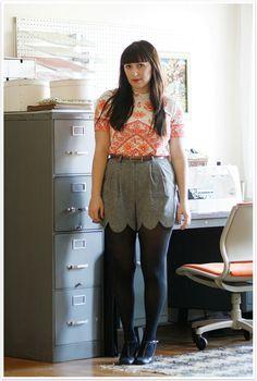 Scalloped diy shorts fashion style fall fashion diy fashion fashion and style autumn fashion ideas scalloped shorts
