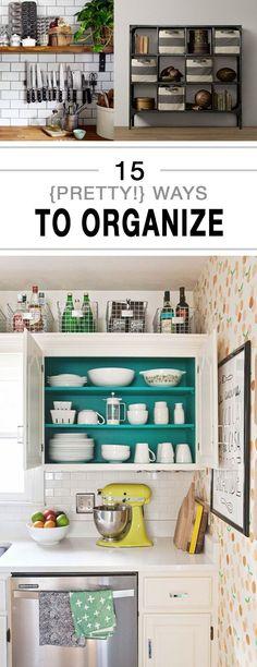 15 {Pretty!} Ways to Organize -