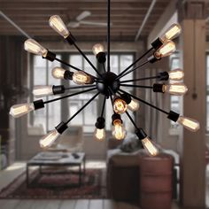 73.92$  Watch here - http://ali8al.worldwells.pw/go.php?t=32789427087 - 2017 New 12/15/18/20 Heads Hanging Lights Lamps Satellite Style Chandelier Restaurant Home Deco Lamparas Lustre E27 110-240V  73.92$