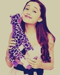 Ariana Grande and her Purple Giraffe
