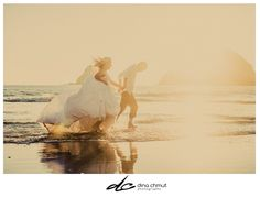 wedding beach trash the dress shoot!