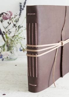 https://flic.kr/p/w9deMh | Leather guest book