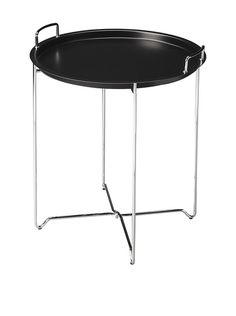 Butler Tray Table, Black/Chrome at MYHABIT