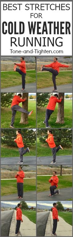 5 great warm up stretches for cold-weather running! From Tone-and-Tighten.com