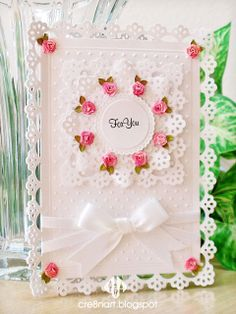 Dainty Punched Cards, � La Martha Stewart.pinned from cre8nart.blogspot