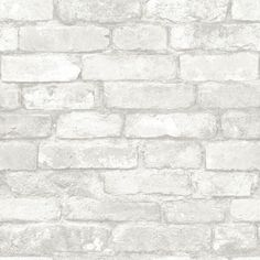 Gray Brick Peel and Stick Wallpaper NU1653 – D. Marie Interiors