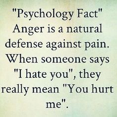 """This is one of the best things I learned in school and always carry with me in my relationships. Behind anger is always pain, hurt. And recognizing and labelling the hurt and pain is extremely helpful in working through the anger and figuring out how to avoid it in the future. Whenever I feel angry with someone, if I sit back, deep breathe and reflect, I can almost always label what is behind the anger. I feel like saying """"I'm angry because you did this..."""" But what is really helpful is to…"""