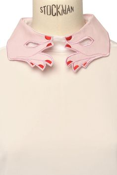 RED NAILS- embroidered detachable collar
