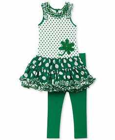 Rare Editions Little Girls' St. Lucky Ladies, Little Fashionista, Little Girl Fashion, Dresses With Leggings, Holiday Outfits, Girly Girl, Dillards, Tutu, Designer Dresses