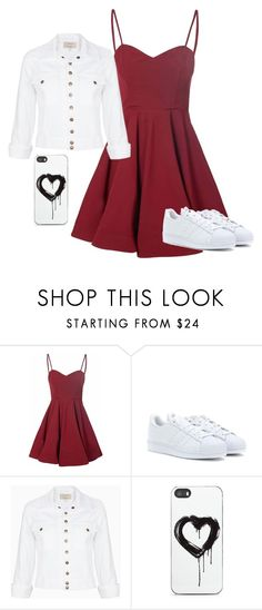 """Basically Basic"" by lovecarabear ❤ liked on Polyvore featuring Glamorous, adidas, Current/Elliott and Zero Gravity"