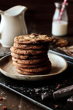 Chocolate Chunk Ginger Cookies. Just right for a snowy day!