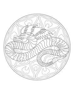 Free Mandala Dragon 4