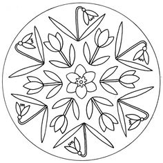 Flowers, holidays and other spring mandalas for kindergarten and pre-K Mandalas Drawing, Mandala Coloring Pages, Coloring Pages For Kids, Coloring Books, Colouring Sheets, Bobbin Lace Patterns, Applique Patterns, Dot Art Painting, Painting Patterns