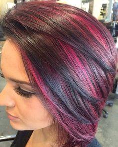 Funky Hair Colors, Bright Hair Colors, Hair Color And Cut, Cool Hair Color, Colours, Funky Hairstyles, Bride Hairstyles, Hairstyle Ideas, Hair Ideas