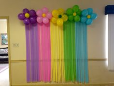 Cheap Background streamers and balloons - Balloon Decorations 🎈 Ballon Decorations, Girl Birthday Decorations, School Decorations, Rainbow Birthday Party, Unicorn Birthday Parties, Birthday Party Themes, Butterfly Birthday, Birthday Ideas, Balloon Background