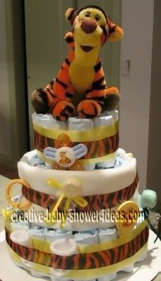 tigger baby diaper cake