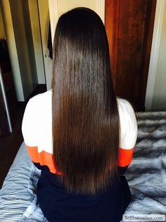 "Cool 12-14"" of Soft, Straight Virgin Medium Brown Hair For Sale"