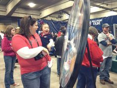 2013 Tribe Fest Prize Wheel Spinners! Buy this Prize Wheel at http://PrizeWheel.com/products/floor-prize-wheels/big-40-prize-wheel/.