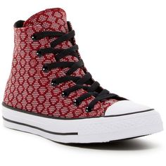 Converse Chuck Taylor All Star High Top Sneaker (Unisex) ($25) ❤ liked on Polyvore featuring shoes, sneakers, converse sneakers, star sneakers, lacing sneakers, laced up shoes and rubber shoes