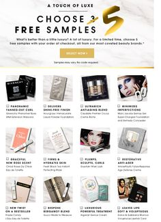 Would be great to offer customers a choice of free samples with their orders. Example from Sephora.